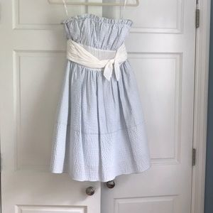 Betsey Johnson Seersucker strapless dress, size 2